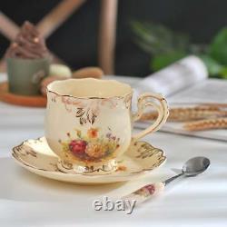 Vintage Tea Set and Saucers Cup Teapot Coffee Set Flower Porcelain 19 Piece NEW