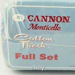 Vtg 80s Cannon Full Bed Sheet Set Pastel Splatter Paint Monticello Cotton Fresh
